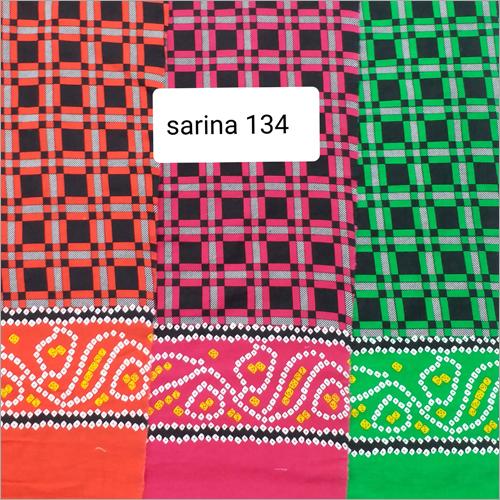 Multicolor Silk Cotton Printed Fabric