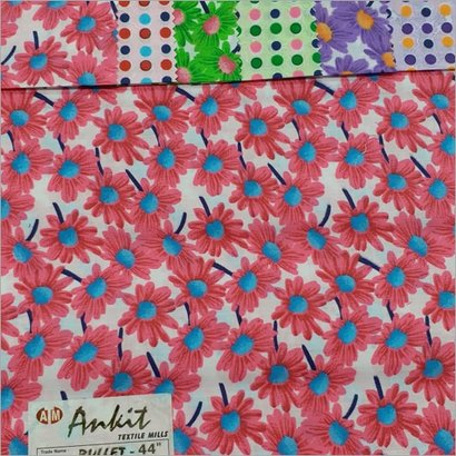 Multicolor Poly Cotton Printed Fabric