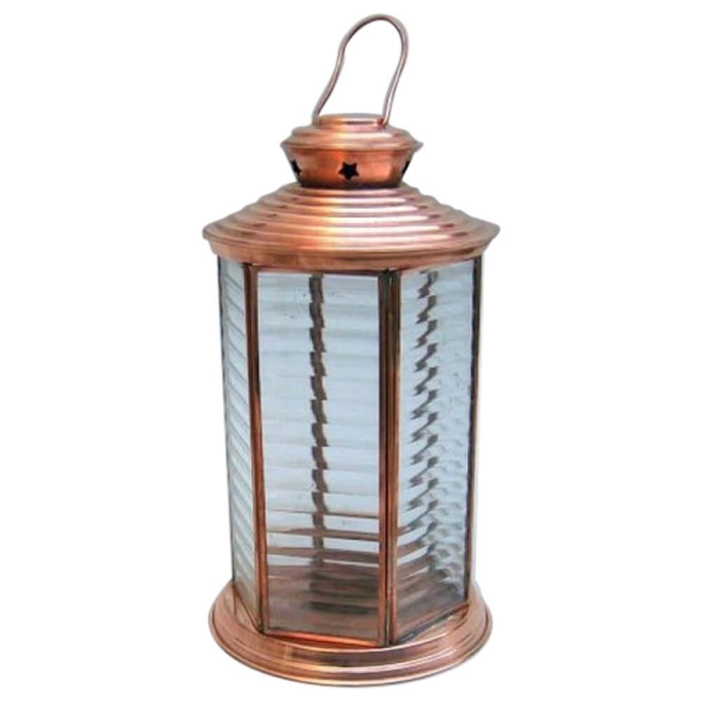 Candle Lantern 6 Side Glass