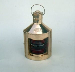"""Starboard Green""""100""""Ship Lantern with Oil Lamp Copper"""