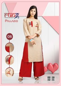 Rayon kurtis with plazzo