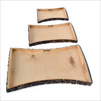 Designer Wooden Serving Tray Set