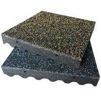 Eco-safety 3-inch rubber playground tiles