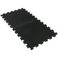 eco drain 3/4-inch interlocking rubber flooring tiles