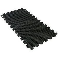 eco drain 3/4-inch interlocking rubber flooring tiles