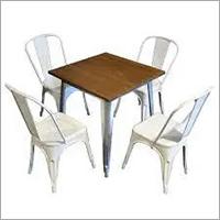 Modern Metal Table & Chair