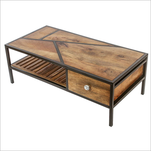 Solid Wood Center Table With Drawer