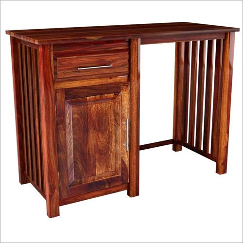 Hardwood Strip Study Table With Drawer & Door