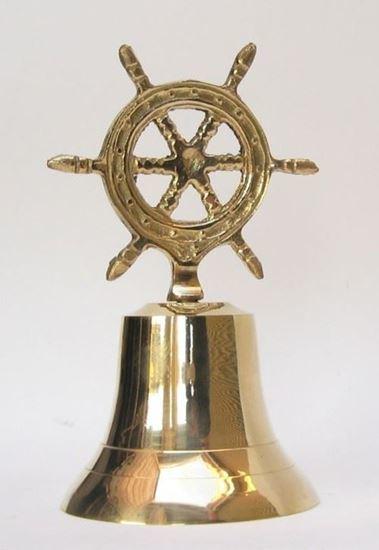 Brass Ship Wheel Bell