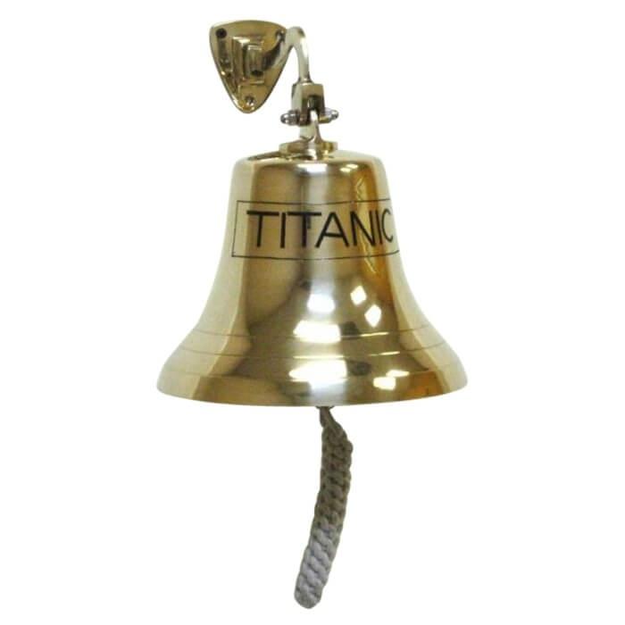 Solid Brass Engraved Bracket Bell TITANIC