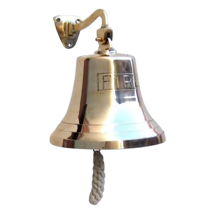Solid Brass Engraved Bracket Bell