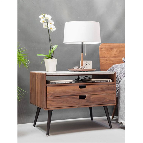 2 Drawers Scarlet Nightstand