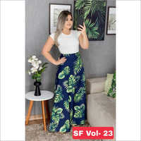 Ladies Full Length Printed Skirt