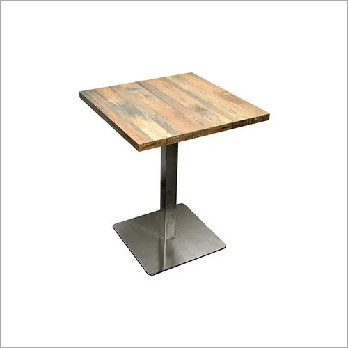 Modern Iron Base 04 Seater Dining  Table