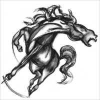 Pencil Realistic Horse Sketch