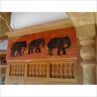 Terracotta Elephant Wall Murals