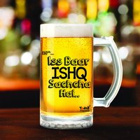 Ishq Sachcha Hai | 600ml - Yedaz Matte Finish Glass Bollywood Beer Mug