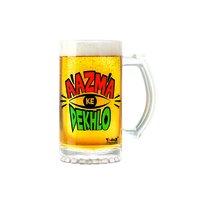 Aajma Ke Dekh   600ml - Yedaz Matte Finish Glass Bollywood Beer Mug