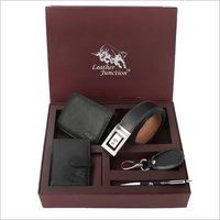 Black Leather Gift Set For Men