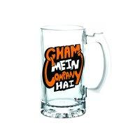 Gham Mein Company Hai | 600ml - Yedaz Matte Finish Glass Bollywood Beer Mug