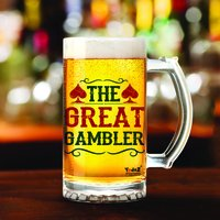The Great Gambler | 600ml - Yedaz Matte Finish Glass Bollywood Beer Mug
