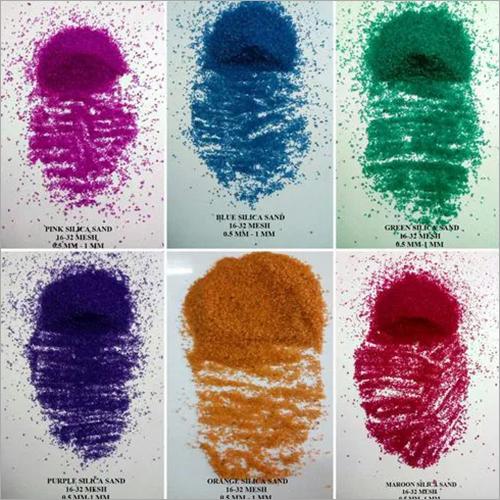 colored quartz coated sand