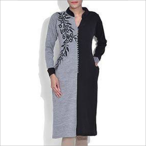 Ladies Collar Woolen Kurti