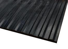 corrugated wide rib rubber runner mats