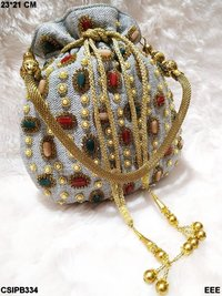 Beaded Party Wear Potli Bag
