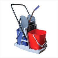 40 Ltr Wringer Trolley Double Bucket