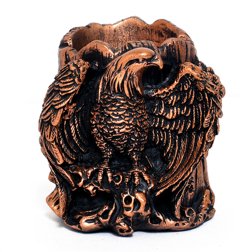 Home Decoration Handmade Eagle Design Resin Pen Stand