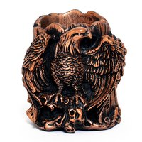 Home Decoration Handmade Eagle Design Resin Pen Stand