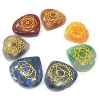 seven chakra heart stone