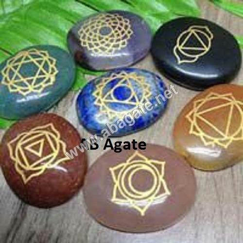 seven chakra oval set