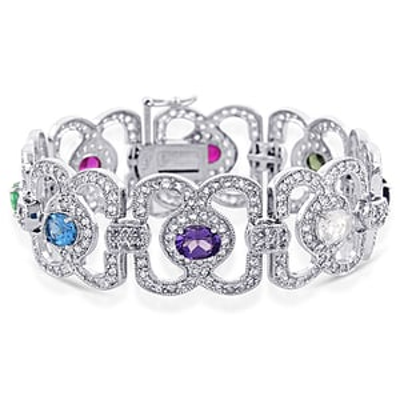 Silver & Diamond Bracelet