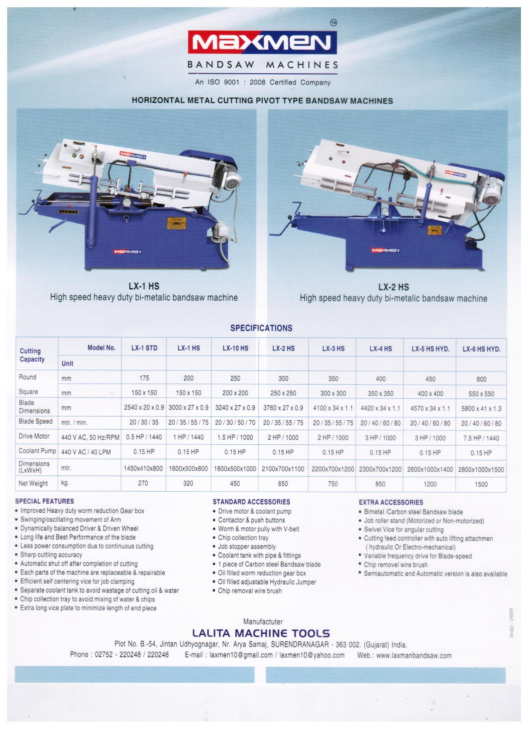 High Speed Metal Cutting Bandsaw Machines