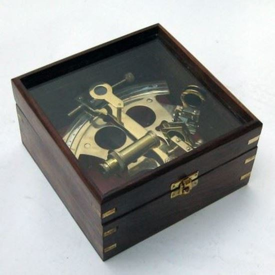 German Sextant With Glass Box