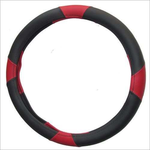 Black & Potato Beige Steering Cover