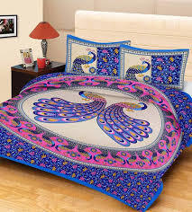 Peacock Design Double Bed Sheet