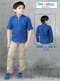 Boys Designer Shirt With Cotton Pant Set