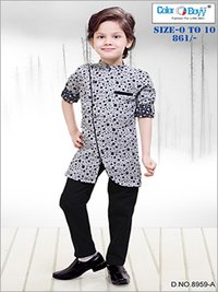 Boys Indo Western With Full Pant Set