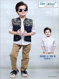 Boys Jacket With Full Pant Set