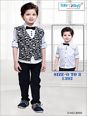 Boys Trendy 4 Pieces Party Wear Set