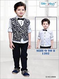 Boys Trendy 4 Pieces Party Wear Set