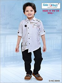 Boys Modern Shirt With Full Pant Set