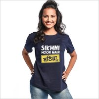 Sikhni Hoon Main Yedaz Womens Fashionable T-Shirt