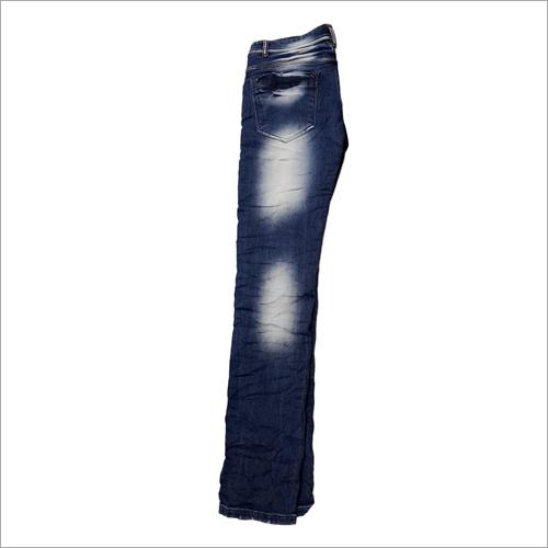 精神牛仔布牛仔裤