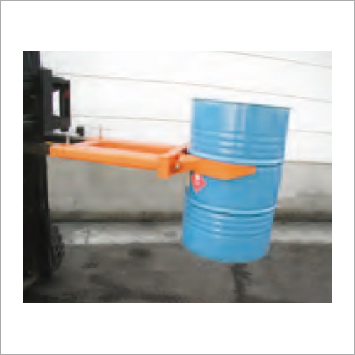 Fork Mounted Mechanical Drum Grab Attachment