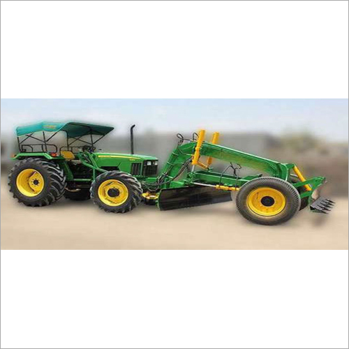 Tractor Grader with Dozzer Attachment