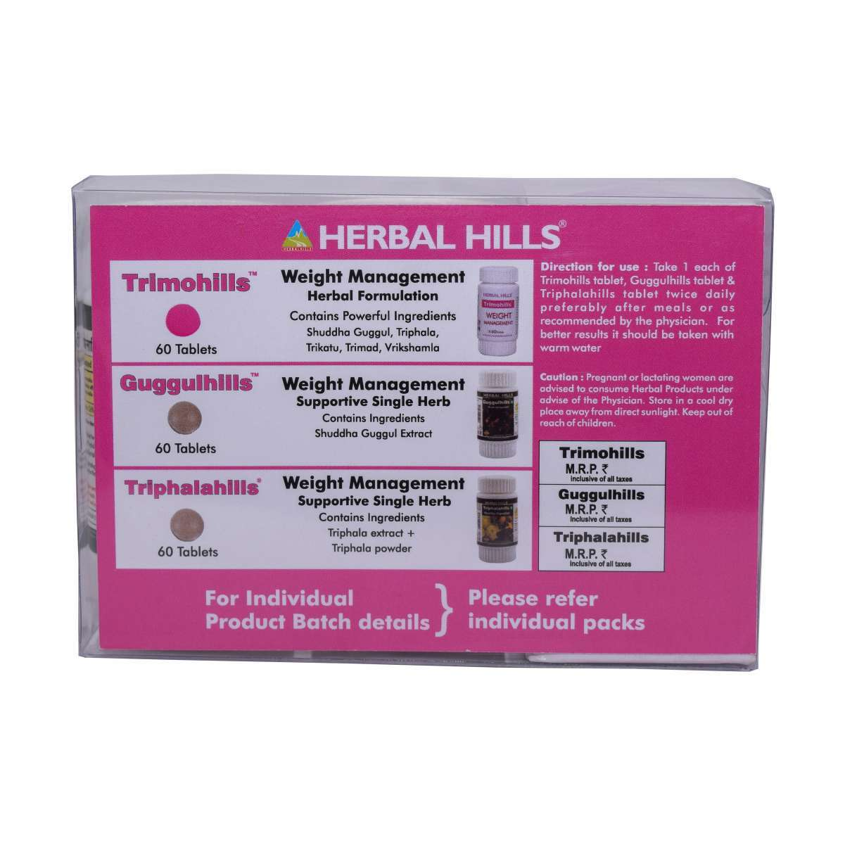 Ayurvedic Medicine for Weight Management - Slimming Tablets - Trimohills Combination Pack